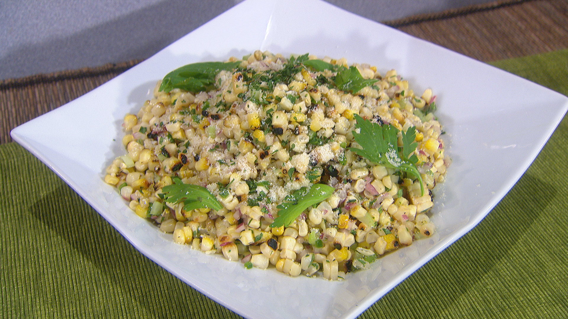 ROASTED CORN SALAD WITH GRATED PARMESAN, JALAPEÑOS AND CILANTRO-LIME ...