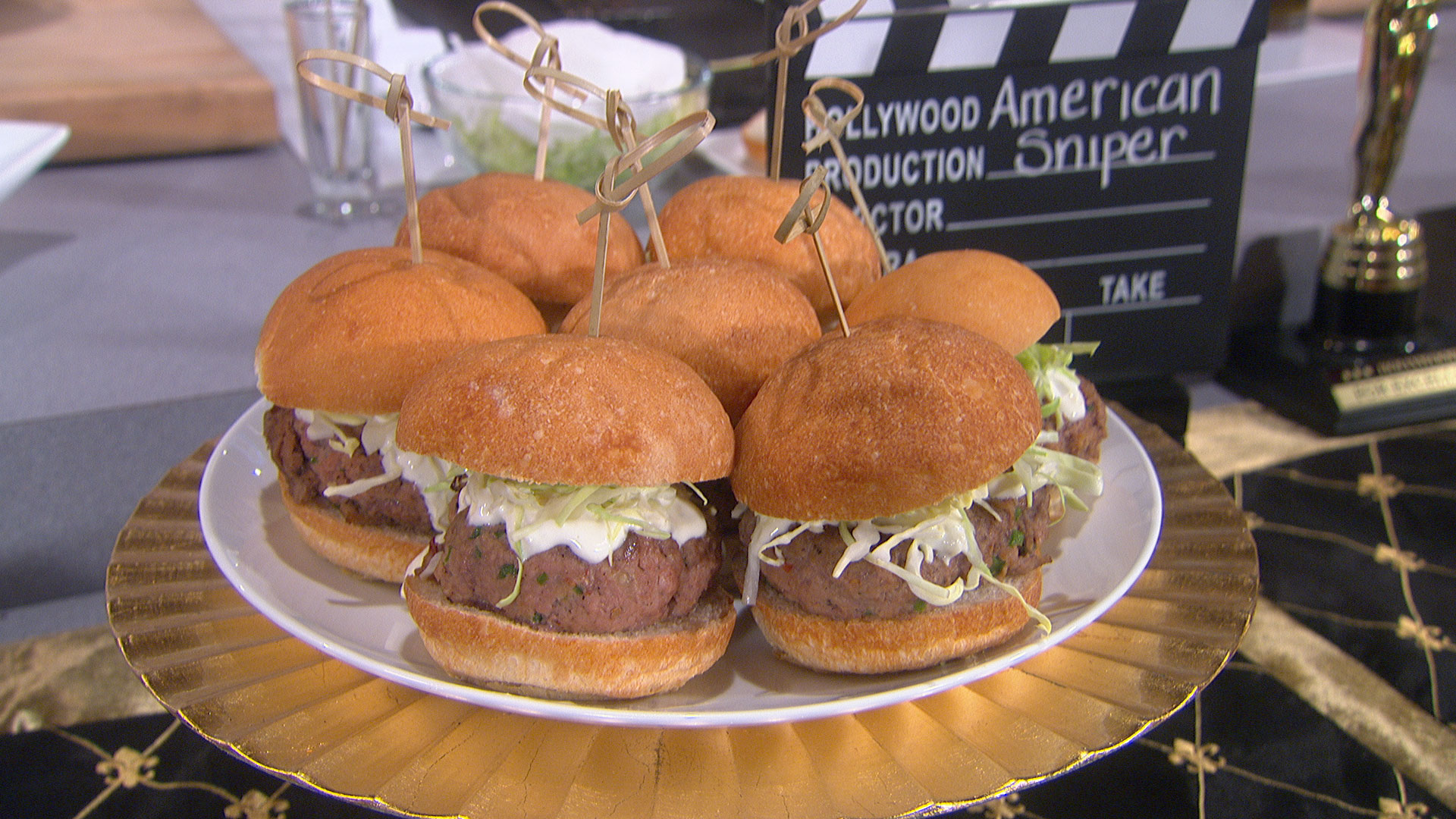 "American Sniper"" – Red White and Blue Mini Turkey Burgers"