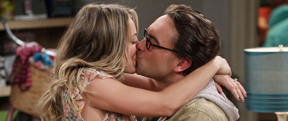 big bang theory penny kiss scenes