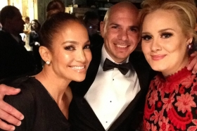 Backstage at the 55th Annual GRAMMY Awards