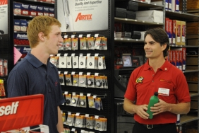 Jeff Gordon Selling Automotive Supplies