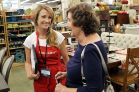 Actress Jane Seymour Working at a Cost Plus World Market