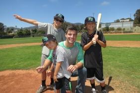 Jeff Schroeder with Josh Morrow's kids