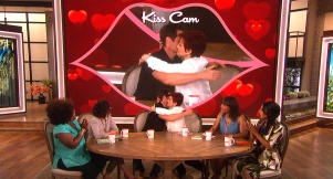 David Duchovny and Sharon Osbourne Pucker Up on 'The Talk' Kiss Cam!