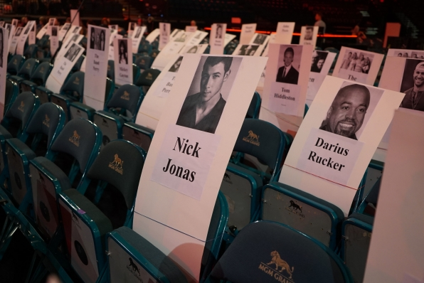 Nick Jonas and Darius Rucker will sit close together at the 51st Academy of Country Music Awards.