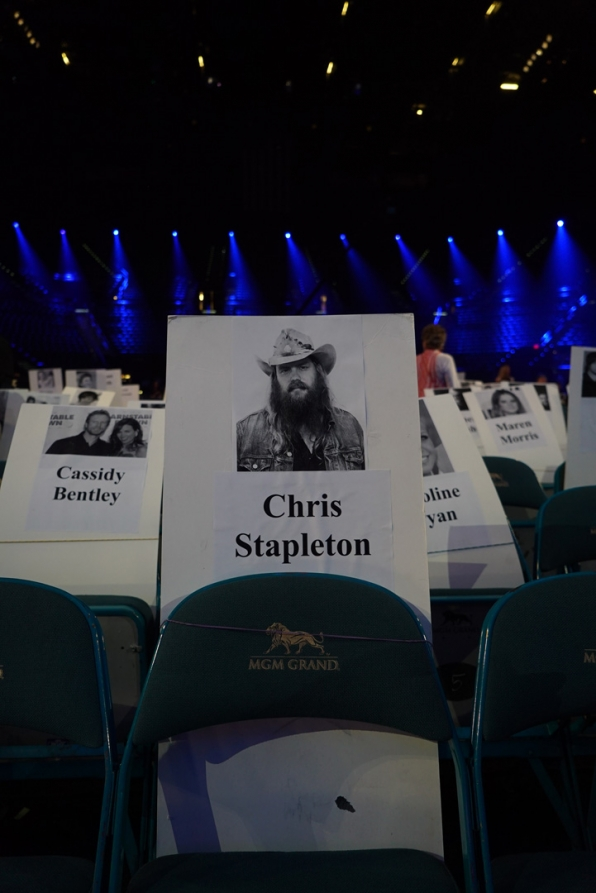 Chris Stapleton has got one great seat for all the 2016 ACM action.
