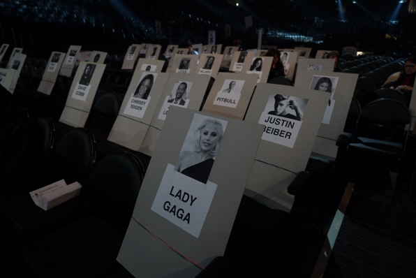 Lady Gaga's spot is ready to go for GRAMMY night!