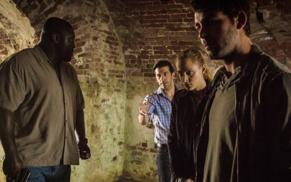 Nonso Anozie as Abraham Kenyatta, Simon Kassianides as Jean-Michel Lion, Nora Arnezeder as Chloe Tousignant, and James Wolk as Jackson Oz.