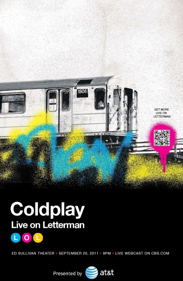 Coldplay played Live On Letterman on September 20, 2011
