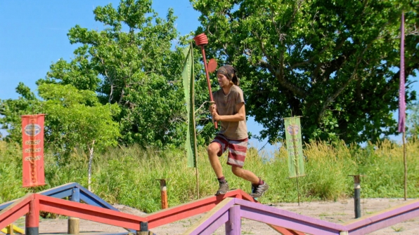 Will tries his best to push through the challenge's multiple obstacles.