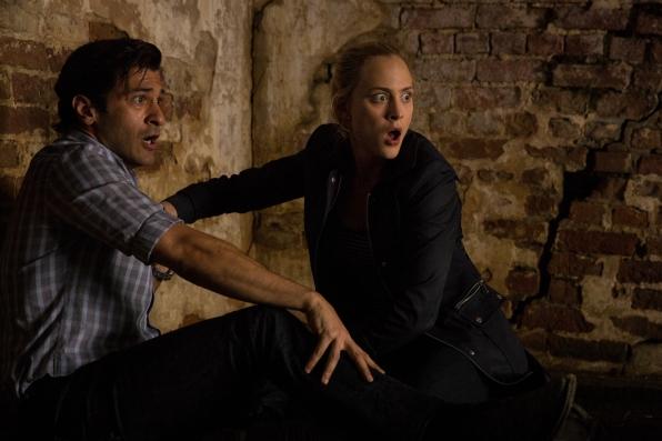 Simon Kassianides as Jean-Michel Lion and Nora Arnezeder as Chloe Tousignant.