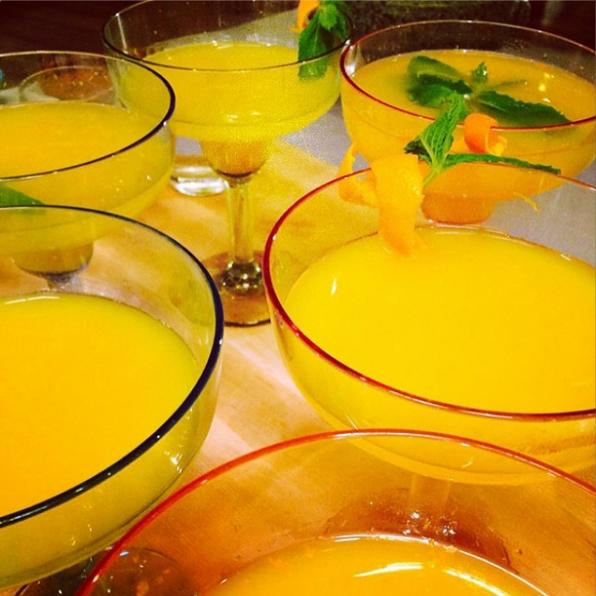10. Tangerine Mint Sparkling Margarita - Chef Susan Feniger