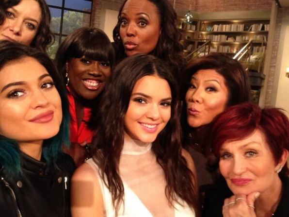Kylie Jenner, Sara Gilbert, Sheryl Underwood, Kendall Jenner, Aisha Tyler, Julie Chen and Sharon Osbourne
