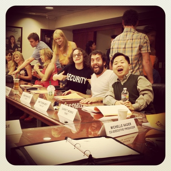 2 Broke Girls First Table Read