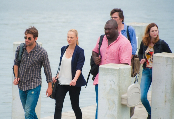 James Wolk as Jackson Oz, Nora Arnezeder as Chloe Tousignant, Nonso Anozie as Abraham Kenyatta, Billy Burke as Mitch Morgan, and Kristen Connolly as Jamie Campbell.