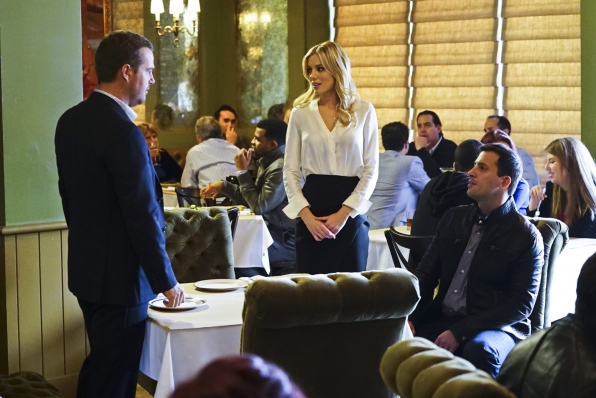 "Chris O'Donnell as Special Agent G. Callen, Bar Paly as Anastasia ""Anna"" Kolcheck, and Juan Javier Cardenas as Ricardo Pena/Roman Nulishkin"