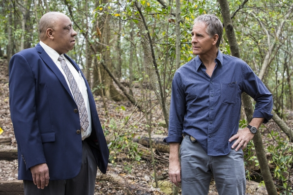 Barry Shabaka Henley as Baton Rogue Detective Todd Lamont and Scott Bakula as Special Agent Dwayne Pride