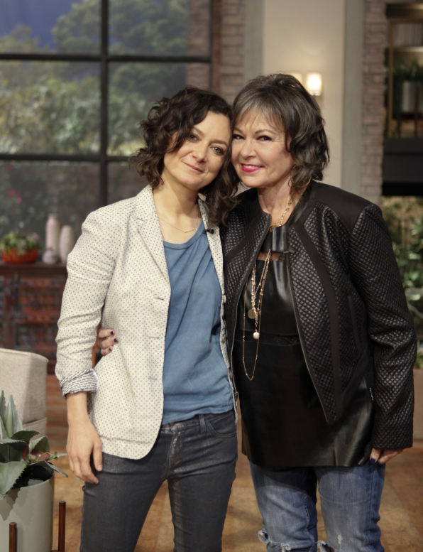 Roseanne Barr with Sara Gilbert