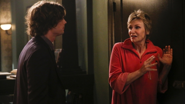 Reid attempts to calm his mother.