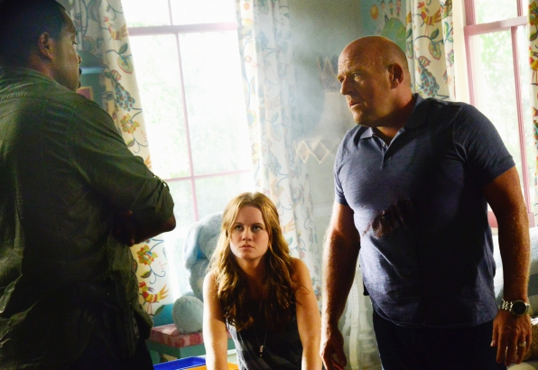 "Eriq La Salle as Hektor Martin, Mackenzie Lintz as Norrie Calvert-Hill, and Dean Norris as James ""Big Jim"" Rennie ."