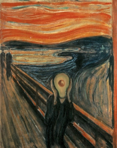 The Scream with Avocado, Edvard Munch, 1893