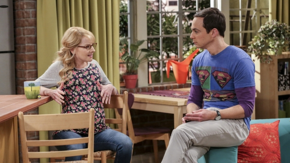 Bernadette and Sheldon get into a heated discussion.