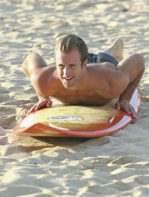 2. He teaches surf lessons