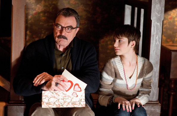 2. She can hold her own on screen with the legend Tom Selleck.
