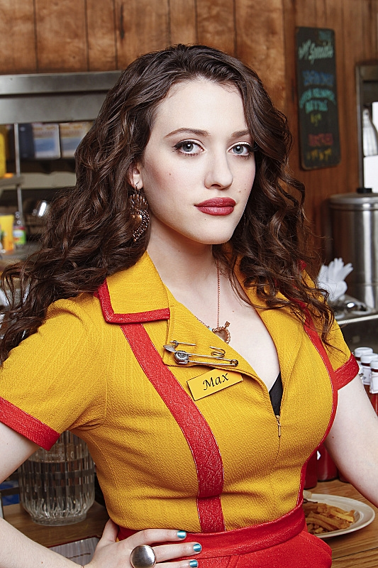 7. As Max Black, Kat wears the hell out of a waitress uniform