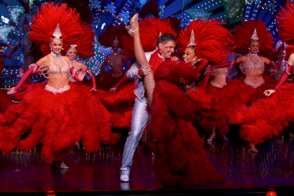 Craig with the Moulin Rouge Dancers