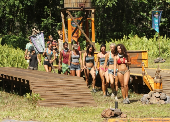 Survivors during the Reward Challenge