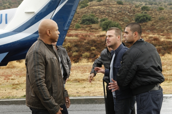 Special Agents Sam Hanna and G. Callen