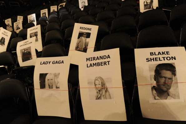 Lady Gaga, Miranda Lambert and Blake Shelton