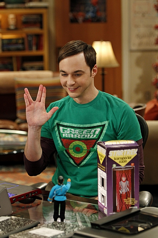 8. When Sheldon looks up to Spock