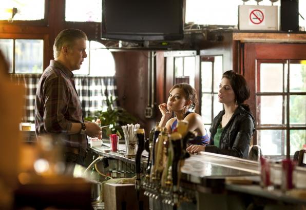 Martina and Cyndi at the Bar