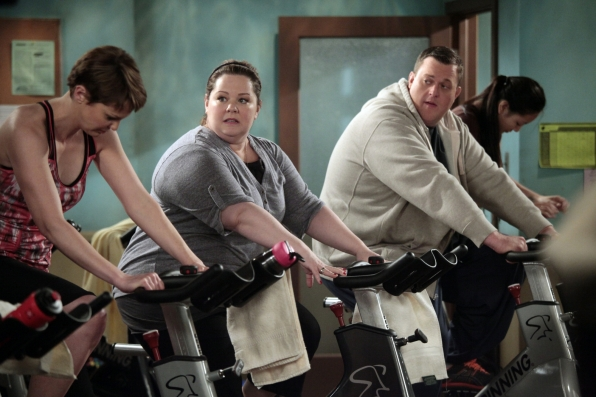 Mike and Molly Pedal Before the Wedding