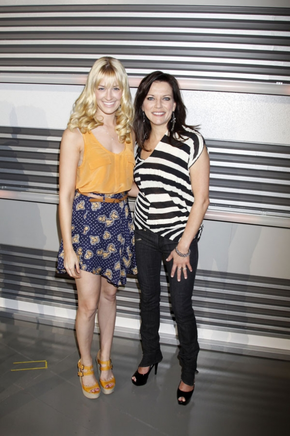 Beth Behrs and Martina McBride