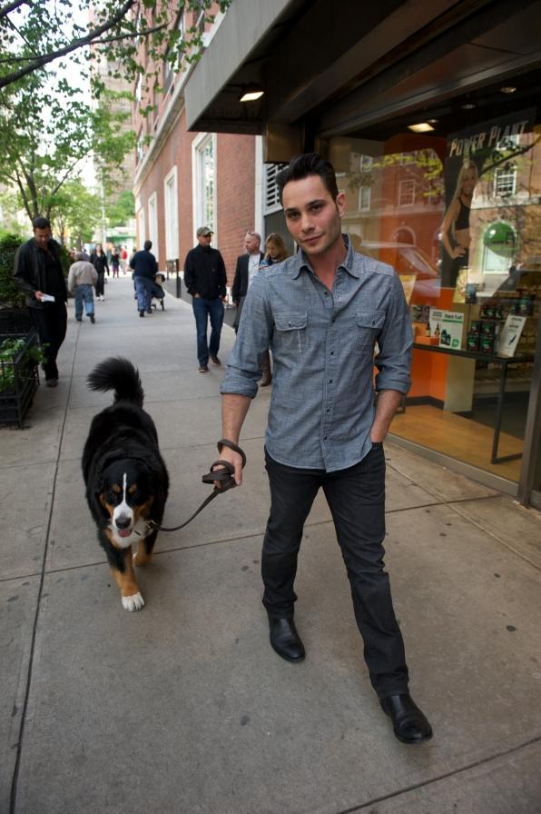 Justin walks Rosie