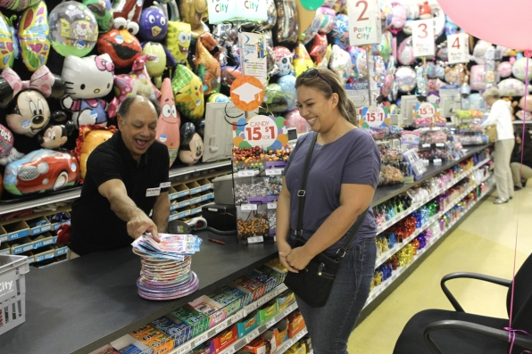 Photos Actor And Comedian Cheech Marin Working At Party Supply Store On CBS