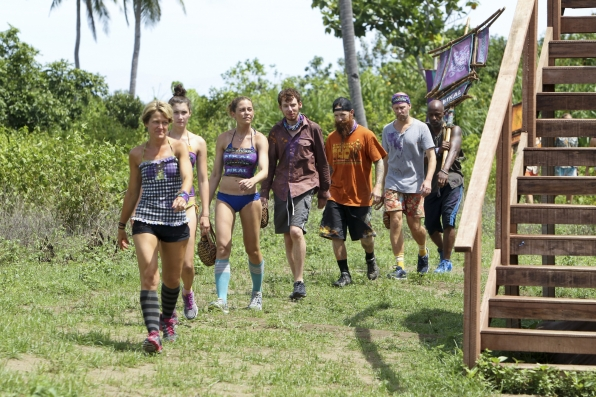 "Walking to a challenge in ""Operation Thunder Dome"" Episode 6 of Season 26"