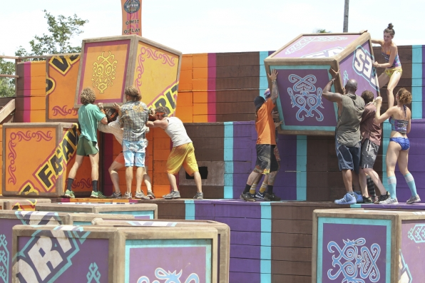 "Immunity Challenge in ""Operation Thunder Dome"" Episode 6 of Season 26"