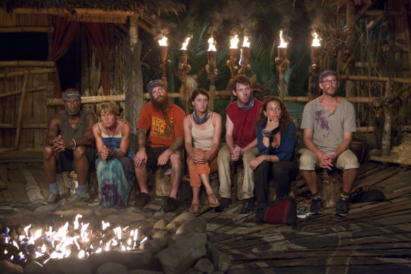 "Tribal council in ""Operation Thunder Dome"" Episode 6 of Season 26"