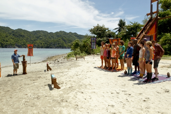 "Getting ready for the immunity challenge in ""Tubby Lunchbox"" Episode 7 of Season 26"