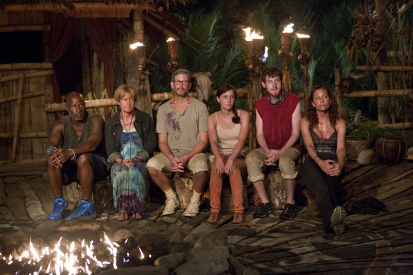 "Tribal council in ""Tubby Lunchbox"" Episode 7 of Season 26"