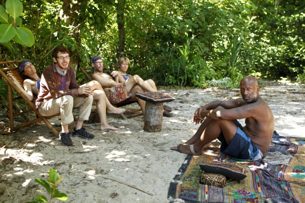 """Hanging out at camp in """"Blindside Time"""" Episode 8 of Season 26"""