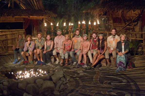 "Tribal Council in ""Blindside Time"" Episode 8 of Season 26"