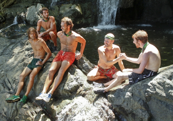 "Hanging out by the waterfall in ""Cut Off the Head of the Snake"" Episode 9 of Season 26"