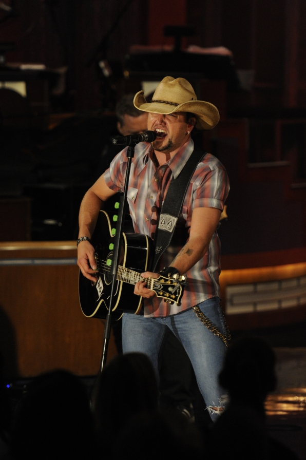 Jason Aldean with His Guitar