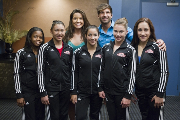 Danielle and Shane with the Fierce Five