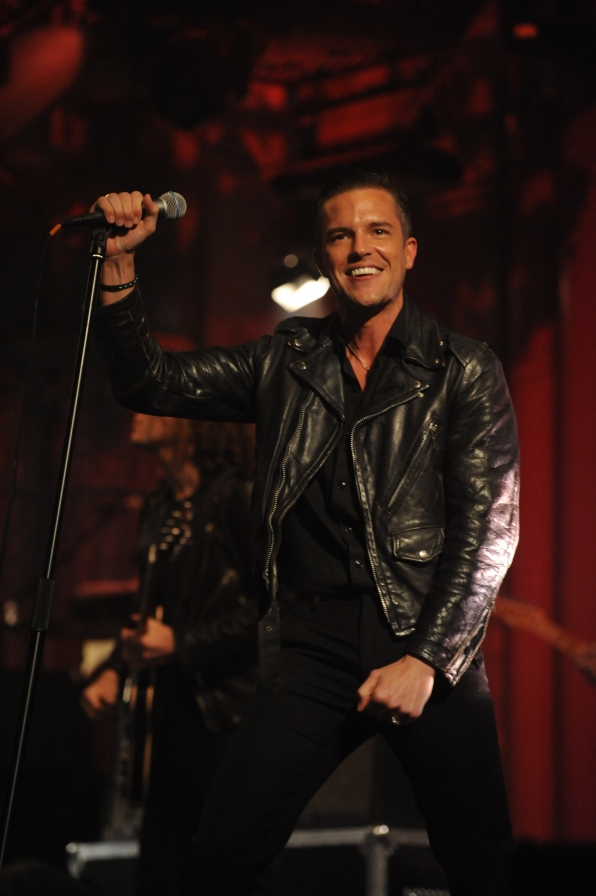 Brandon Flowers Flashes a Smile